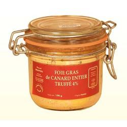 Foie Gras de Canard Entier Truffé 4% - bocal - Origine France