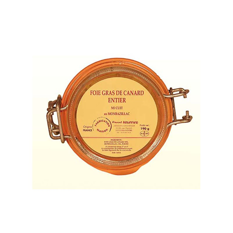 Foie Gras de Canard Entier - Mi-cuit pasteurisé (bocal)