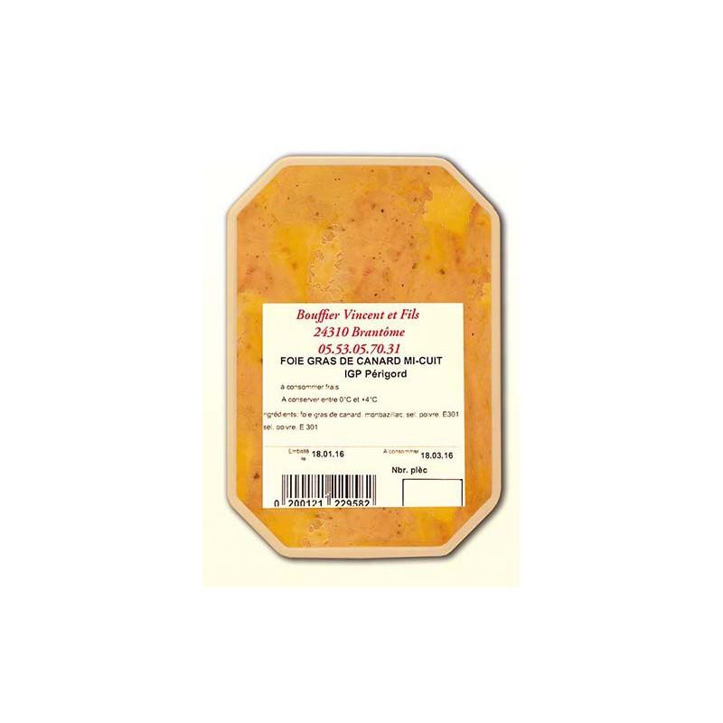 Foie Gras de Canard Entier - Mi-cuit pasteurisé (terrine)